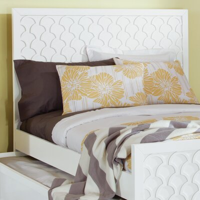 Amanda Panel Headboard Size: Twin, Finish: Bright White
