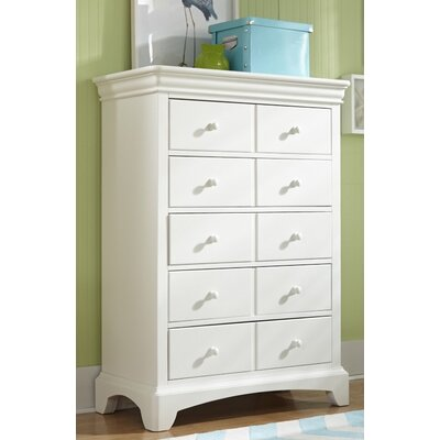 Neopolitan 5 Drawer Lingerie Chest Color: Bright White
