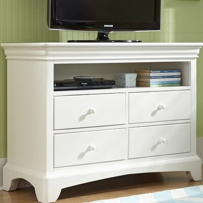 Neopolitan 4 Drawer Media Chest Color: Bright White