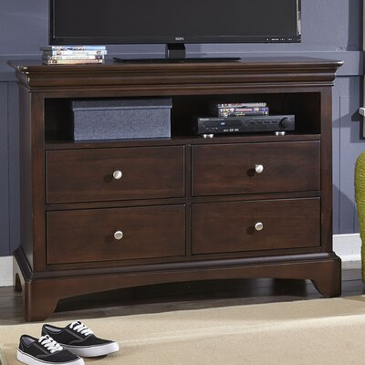 Neopolitan 4 Drawer Media Chest Color: Merlot