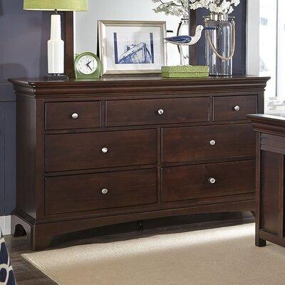 Neopolitan 7 Drawer Double Dresser Color: Merlot