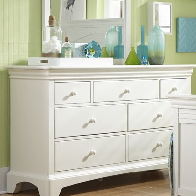 Neopolitan 7 Drawer Double Dresser Color: Bright White
