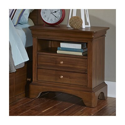 Crawfordville 2 Drawer Nightstand Color: Driftwood Grey