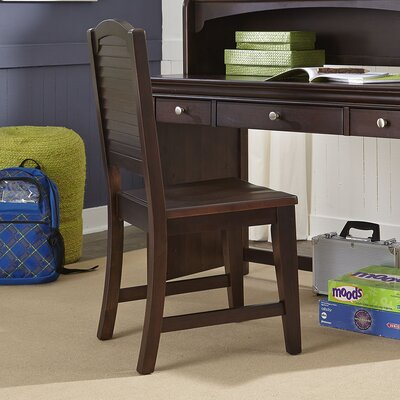 Crawfordville Solid Wood Dining Chair Finish: Merlot
