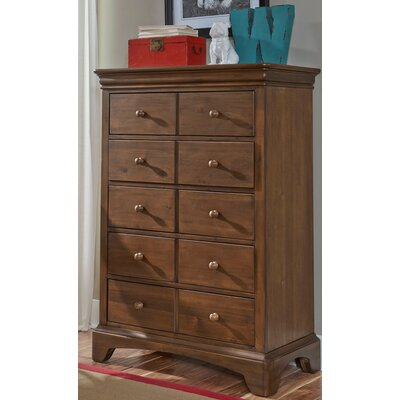 Neopolitan 5 Drawer Lingerie Chest Finish: Driftwood Grey