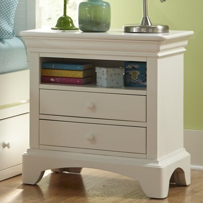 Crawfordville 2 Drawer Nightstand Color: Bright White