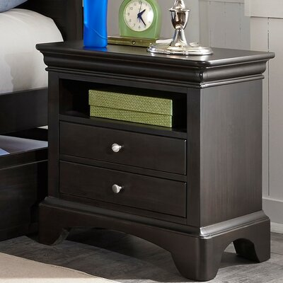 Crawfordville 2 Drawer Nightstand Color: Merlot