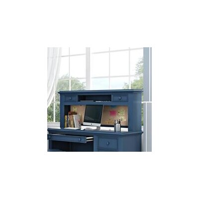 Inwood 54 W Desk Hutch with 2 Drawers and Corkboard Finish: Willliamsburg Blue