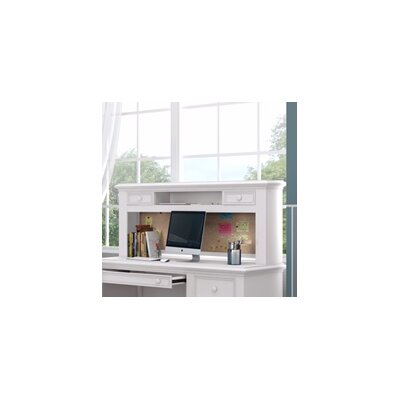 Inwood 54 W Desk Hutch with 2 Drawers and Corkboard Finish: Bright White