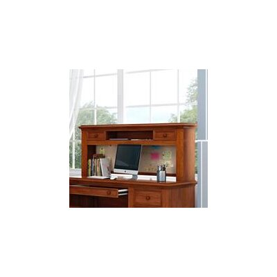 Inwood 54 W Desk Hutch with 2 Drawers and Corkboard Finish: Warm Cherry