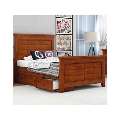 Inwood Complete Bed Size: Full, Color: Warm Cherry