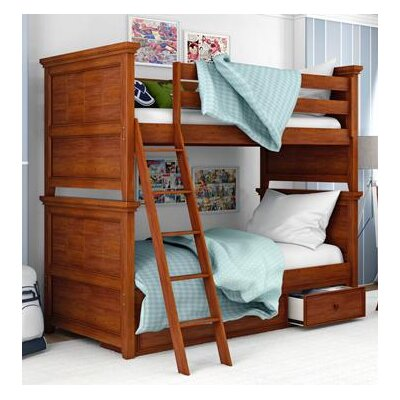 Inwood Complete Bunk Bed Size: Twin, Bed Frame Color: Warm Cherry