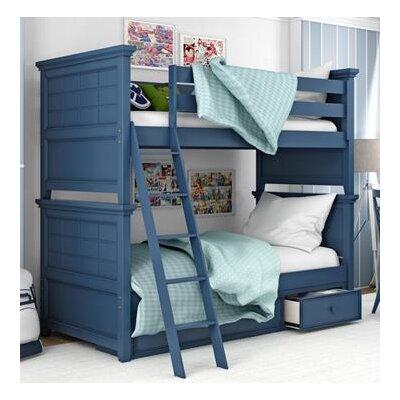 Inwood Complete Bunk Bed Size: Full, Bed Frame Color: Willliamsburg Blue