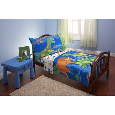 Everything Kids 4 Piece Dinosaurs Toddler Bedding Set 7700416