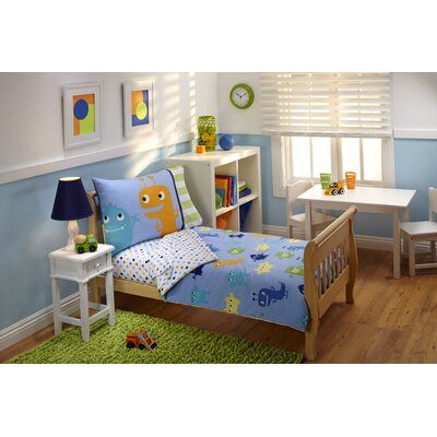 Everything Kids 4 Piece Monsters Toddler Bedding Set 5163416