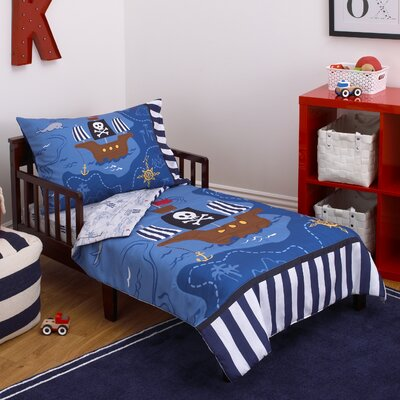 Pirate 4 Piece Toddler Bedding Set 2605416