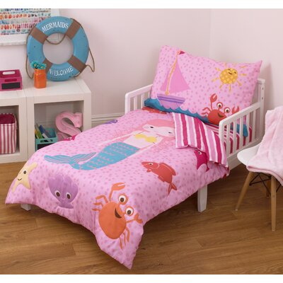 Mermaid 4 Piece Toddler Bedding Set 2606416