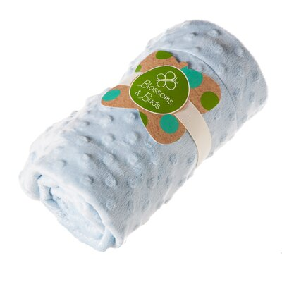 Everyday Minky Dot Blanket Color: Blue