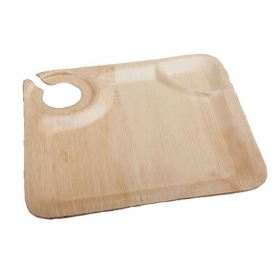 Bamboo Leaf Cup Holder Plate (50 Pack) RWB0229