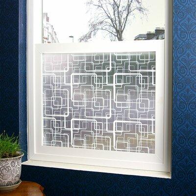 Retro Squares Privacy Window Film R3002P