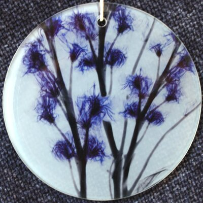 X-ray Designs Flower Frosted Glass Ornament orn-bluebunch