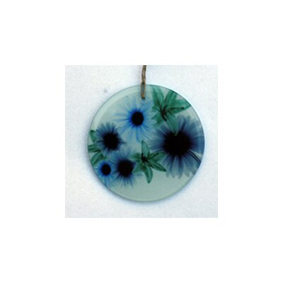Floral Cascade Frosted Glass Ornament Orn112