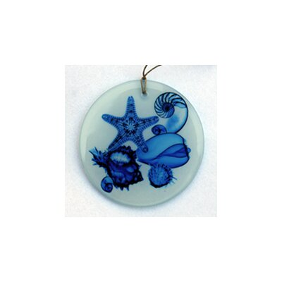 Shell Cacade Frosted Glass Ornament Orn212