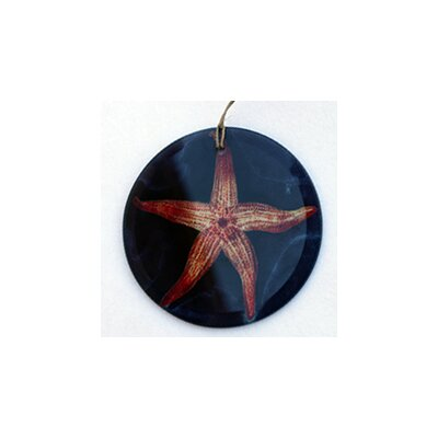 Starfish in Water Frosted Glass Ornament Orn210
