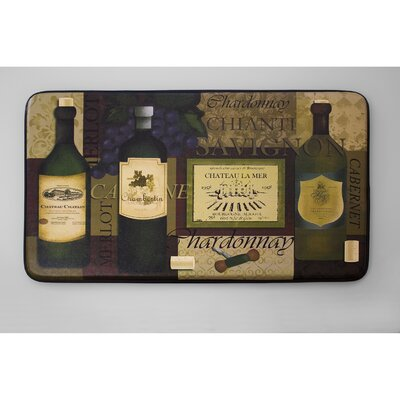 Cushioned Favorite Wine Chef Mat