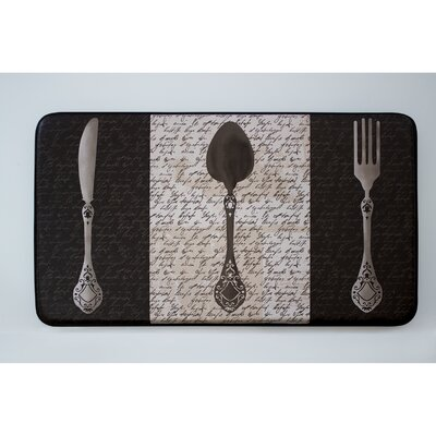Cushioned French Utensils Chef Mat
