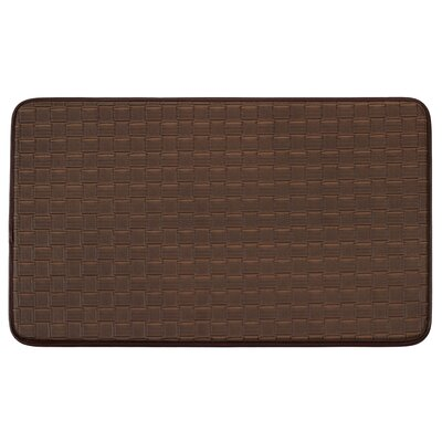 Weave Non-Skid Comfort Basket Chef Kitchen Mat Color: Mocha