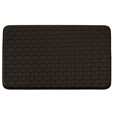 Weave Non-Skid Comfort Basket Chef Kitchen Mat Color: Espresso