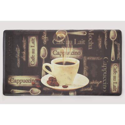 Caf� Au Lait Anti-Fatigue Cushioned Chef Kitchen Mat Size: Rectangle 30 x 18