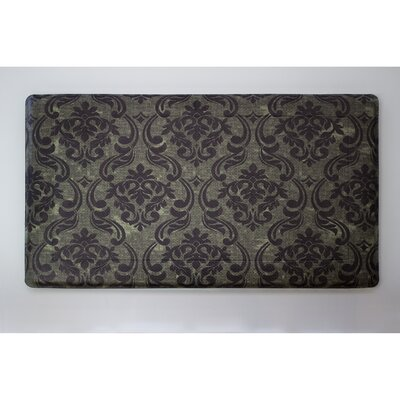 Anti-Fatigue Comfort Chain Damask Chef Mat Color: Sage / Chocolate