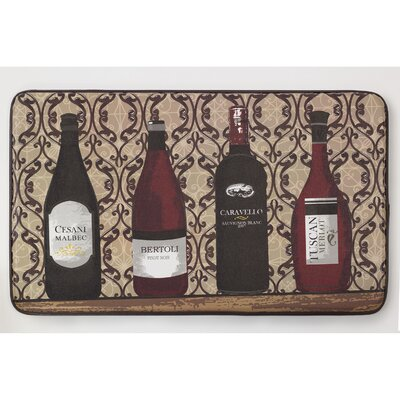 Cushioned Assorted Wines Chef Mat