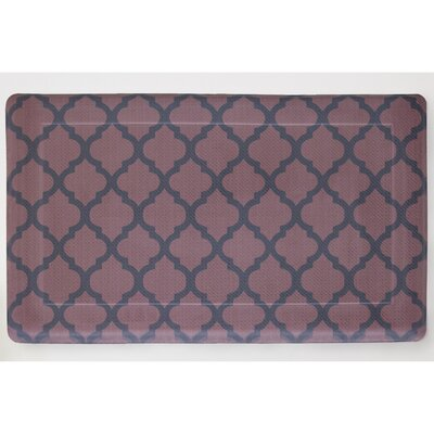 Comfort Quatrefoil Anti-Fatigue Kitchen Mat Color: Red / Black