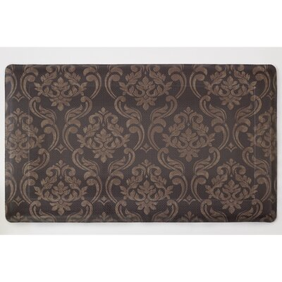 Wegener Anti-Fatigue Comfort Chain Damask Chef Mat Color: Chocolate / Linen