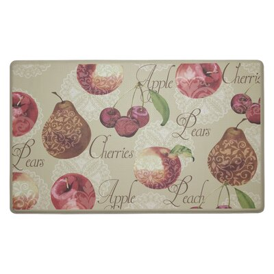Elegant Fruit Anti-Fatigue Cushioned Chef Kitchen Mat Rug Size: Rectangle 18 X 30