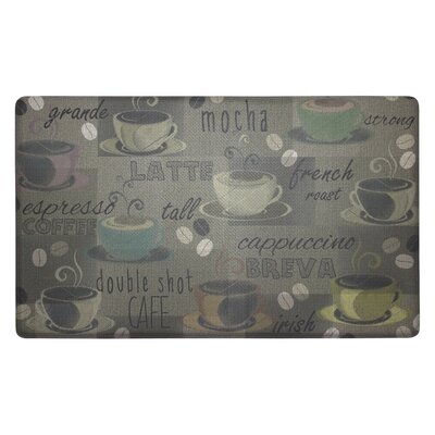 Roasted Coffee Anti-Fatigue Cushioned Chef Kitchen Mat Rug Size: 18 X 30