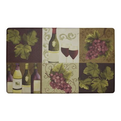 Wellness Wine Anti-Fatigue Cushioned Chef Kitchen Mat Mat Size: Rectangle 20 X 32
