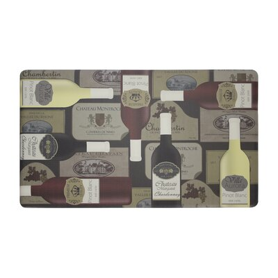 Wine Label Anti-Fatigue Cushioned Chef Kitchen Mat Rug Size: 20 X 32