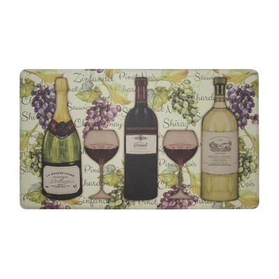 Wine Tasting Anti-Fatigue Cushioned Chef Kitchen Mat