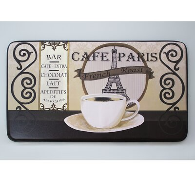 Cushioned Caf� Paris Chef Mat