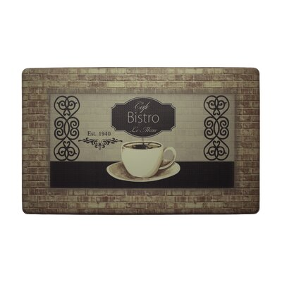 Caf� Bistro Kitchen Mat Rug Size: Rectangle 1 6 x 26