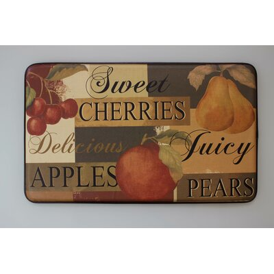 Scrumptious Fruit Printed Anti-Fatigue Chef Kitchen Mat