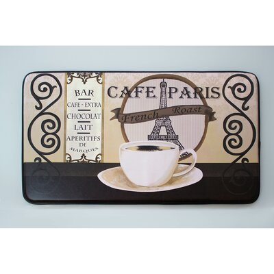 Cafe Paris Printed Anti-Fatigue Chef Kitchen Mat