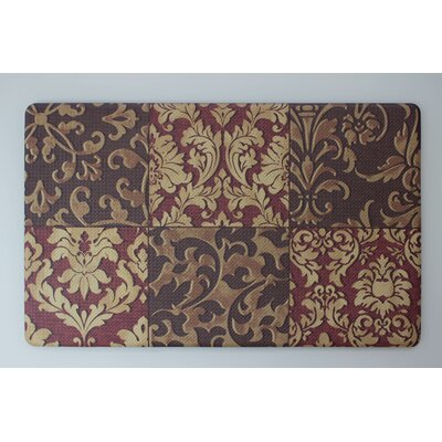 Anti-Fatigue Basket Weave Printed Memory Foam Comfort Kitchen Mat