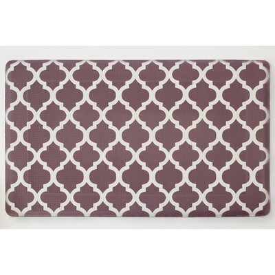 Chocolate Ivory Anti-Fatigue Printed Memory Foam Comfort Kitchen Mat