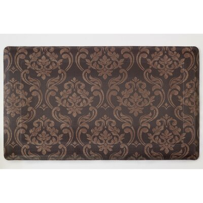 Chocolate Linen Anti-Fatigue Printed Memory Foam Comfort Kitchen Mat