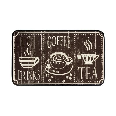 Hot Coffee Anti-Fatigue Kitchen Mat